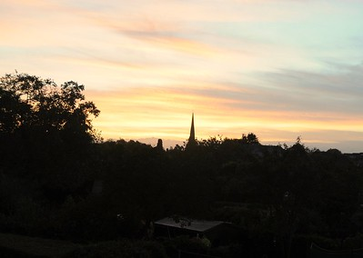 Sunrise over St Mary's Church Spire