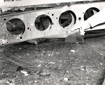 Damage to transport handling rail.  22 May 1958.
