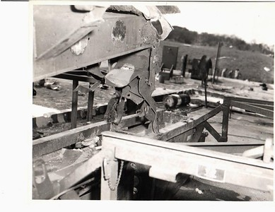 Remains of launcher Nr 1 after explosion.  22 May 1958.