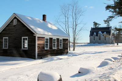 Schoolhouse and library