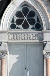 Front door of the library