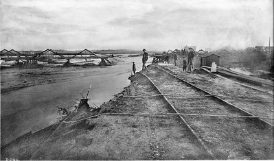 1885, Flood Damage to the Downey Avenue Bridge
