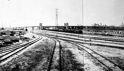 1930, Broadway Street Bridge from Rail Yard