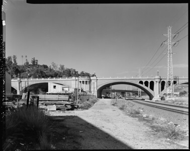 1999, Southside of North Broadway Bridge Panorama 1