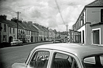 Main St, Dunfanaghy.  These are a motley crew, the least uninteresting and incompetent images from 2 rolls of FP3 I shot in the course of a family holiday in the north of Ireland in, I think, July or August of 1963. Judge them leniently please, for I was quite young and using my first and very basic 35mm camera, a Halina 35X. I can't provide an exact location for many of them - if anyone else can, I'd be grateful.