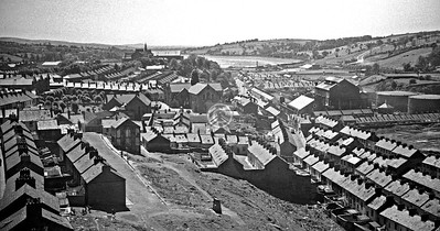 From the top of the Pillar, looking southwest, over the Bogside (greatly redeveloped since, I think) and beyond to the River Foyle.