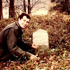 11a. Here I am about 1980. Not sure if this was my first trip to the grave or 2nd. I remember taking some chalk and a brush to clean the stone with.