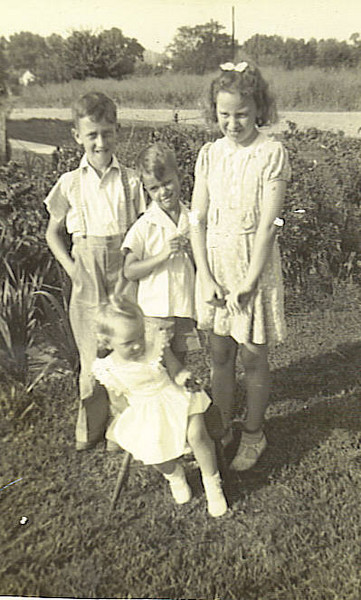 1. From left, Lee, Jr;, Little Bill, Betty and Janet in front. about 1941