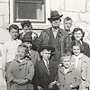 19. From left, Bill, Lee in back of John, Bud, Harry, Darlene in front of Janet. in front are Eloise and Russell and Becky. about 1948.