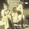 3. Lee, Jr., Janet and Betty, about 1940.
