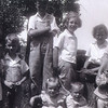 14. Donna, Bill, Lee, Darlene, Betty, Harry, and in front are Janet, John and Russell. about 1942.