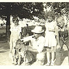 20. from left, Lee, probably Donna Maye bending over, Uncle John Barr, Betty and Harry. about 1940, and maybe at the Dripping Springs farm.