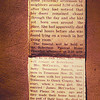 """16. Betty's obituary, 1951.  Last Paragraph:  """"Surviving are eight sons and daughter: Jesse, Frank, John MCCrackin and Mrs. Beulah Piper, of West Plains; Raymond McCrackin of Neoga, Ill who is expected here today; a stepdaughter, Mrs. Maude Brownfield of Pomona; 32 grandchildren; 13 greatgrandchildren; one brother, Bud Barrett; two sisters, Mrs Mary Matthews and Mrs. Eliza Thompson of Springfield."""""""