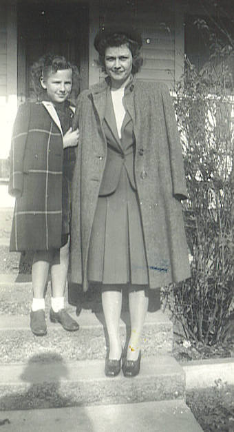 1. Mary and Donna Maye Smith in November, 1943. Is this on Grandma Barrett's front porch?