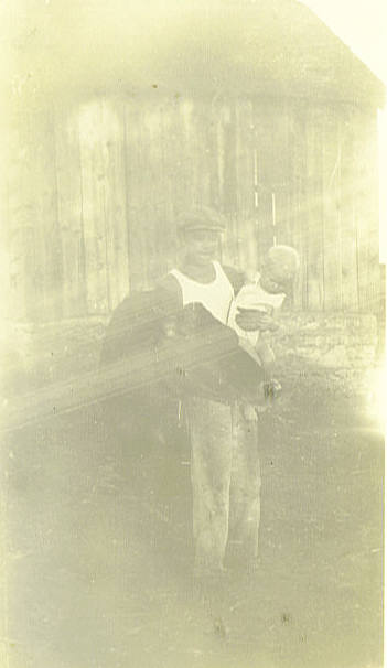 1. Johnny and little Donald Chestnut at the Davis place about 1934. Johnny was born November 12, 1920 and Donald died September 13, 1935.