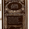 """6. Memorial plaque for Mary's first husband, Richard Andrew 'Andy' Sanders, who was killed in a train wreck in 1906. I don't have any pics of Andy.  Here is something I wrote up recently about him:<br /> <br /> Andy Sanders  (8-17-1877 to 11-16-1906) was a fireman for the Frisco. Born in Arkansas, died from injuries suffered in a train wreck near Koshkonong, MO in October, 1906. Buried at West Plains, MO. He was married (11-17-1898) to Mary E. Barrett, a sister to my grandfather, Wm 'Bud' Barrett of West Plains. He hired on to the Frisco sometime after the 1900 census, in which he indicated he was a carpenter. However, there is a family story that he was working for the railroad (Frisco?) in West Plains as a member of a grease gang or switching crew at the time he married Miss Barrett. He may have been part-Cherokee. He had a brother named Tom, who later was a coal miner in Arkansas. Tom and Andy were orphaned at a young age. He was the father of 4 children. After their marriage, Mary made extra money by serving meals to the section hands with whom Andy worked. Their house was near the tracks, on First Street, in West Plains. Sometime after 1903 they moved to Springfield, MO. After the October 18th accident, he was taken to the railroad hospital in Springfield, dying 29 days later. His obituary from the Howell County (MO) News, dated 11-23-1906:<br /> """"FIREMAN SANDERS DIED OF HIS INJURIES - Richard A. ('Andy') Sanders, a Frisco fireman, died in the railroad hospital in Springfield at noon last Friday, the result of injuries received in the wreck near Brandsville, Oct. 18th, in which he was bruised and scalded and hurt internally. It was thought for some time he would recover but the internal injuries proved more serious than at first supposed, and he succombed to them at last.      The deceased was 28 years of age and with his wife and three children lived in Springfield. He was a son-in-law of John Barrett of this city, members of whose family were with him in his """