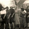 105. Gladys, Pauline, Helen, Irene, ? , and Temple and their 'gams'.