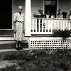 11. Grandma on the porch of the house at Dripping Springs. The house is still standing as of 2016.