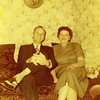 108. Jack and Aunt Gladys. These pics were probably taken at Grandma's house. i think I remember that sofa.