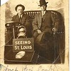 1. While we were at Betty's I went through a box of old photos she had sorted out. Many, I'd never seen before so I borrowed them, brought them home, scanned and edited them to put in this gallery to share with family. THIS photo I have seen before, but not this particular postcard. Bud and Amos are also on a companion postcard from St Louis and I had assumed they were at the 1904 World's Fair there. I think Grandma had a small souvenir spoon from the fair. However, this postcard is postmarked 1911 so maybe Bud and Amos were up there on a return trip. Amos married Bud's sister Eliza Barrett Lortz on Sept 16, 1912 and moved to Springfield.