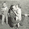 3. Dad gets a hug and kiss from niece Janet.