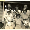 4. Looks like a great bunch of friends. Dad, born in 1913, was probably the oldest of the group. The youngest, Ted and Awilda, were born in 1918. Mom and dad were married in 1935, the Kimberlins and Squires in 1936, and the Pirnacks in 1937.