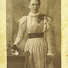 14. Bud married Nellie Jane Wells, daughter of Samuel and Rebecca Rice Wells, on January 7, 1904. Family tradition has it that this picture is Nellie at about 16. She was born around Cureall, in western Howell Co, MO on August 16, 1883. Her parents were Samuel and Rebecca Rice Wells.