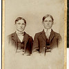5. This is young Bud and his cousin Columbus 'Lum' Allen, son of Thomas Allen, about 1900. Tom Allen was a cousin to John Barrett, and they married sisters; in summer 1885, the Allens, Baldwins and Barretts made a wagon train move from east Tennessee to Missouri. Lum Allen was one of Tom's sons.