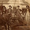 11. A good closeup of young Bud with the grading wagon and crew. I wonder if this West Plains house in the background is still standing.