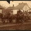10. Ca 1900. Posed on one of their grading wagons, Bud is second from right.