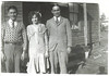 1. Boots Thompson, Effie, and Sam; probably at the Crenshaw Street house in Humboldt in the mid-1920s.