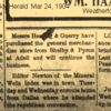 12. Glenn found this yesterday (12/23/16) in a Parker County, TX paper. It looks like Ardell was about 12 miles northwest of Weatherford.  It seems Orvil and his partner sold their store only a few weeks after he had written his folks back in Tennessee. Perhaps it was at this point that Orvil moved up to Clay County, about a hundred miles north of Weatherford.<br /> <br /> I've often wondered how Orvil ended up in Clay County. I've wondered if there were some McNairy County connections who were there ahead of Orvil, and possibly encouraged him to move there.<br /> <br /> In 1900 there were 9,200 people living in Clay County.  701 of them had been born in Tennessee. There were 250 heads of household who came from Tennessee. I looked through the list for any McNairy County names, but none jumped out at me.