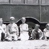 16. Earl and Orpha's children. From left: Lucile, John, Billie, Hazel, JD,  Ruby Jean and Betty Lou.  1932.