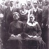 4. This is a great photo of our Littlefield connection.  Ed's great-grandfather was James D. Harris, whose mother was Sarah Agatha LIttlefield Harris (1849-1940). That's Sarah at front right. James's sister Lucy, who married Sirus Bell Hardin, is at left.  In the middle row, from left, are Albert (1882-1949), Mary Percilla 'Molly' (1886-1972),  Julius (1884-1974), and Bunyan (1890-1954); In the back row are Thurman (1888-1982), James D. 'Jimmy' (1871-1938), Wm Franklin 'Willie' (1873-1968) and John Lyndon (1875-1940).