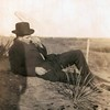 6. Earl in 1914. This was taken the same time as the one with Orpha shooting the shotgun.