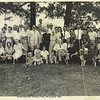 1. I've got quite a few old photos of family reunions. Guess I'll compile them here and caption them as best I can. This, to me, is the premier picture. June 1963 at cousin Dubert 'DJ' Pyron's house at Hickory Flat, just northwest of Adamsville, TN a few miles. I remember attending and having a great time. That's my sister Sylvia at front left, kneeling, with a print dress and a big smile. I'm way back behind her, standing, with a telephone pole sticking out of my head. I have identified all the folks here in a later photo, below, beginning at Photo 90.  This is the first family reunion I remember. If we had them in the 1950s, I've forgotten them. I do remember them in the later 1960s and '70s, up through the 1990s. As the older generation got older or died off, interest wained and we stopped gathering. I'm delighted that Dubert's family still get together in June each year at Gatlinburg. A reunion is an old family custom for the Pyrons. Some of these photos I have must date to the early years of the twentieth century.<br /> BUT, before we get to the reunions, you need to learn a little more about our ancestors - who we actually honor when we've gathered in reunion.