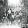 15. On the cannon: from left Nancy Nelson, Sylvia Pyron, James C. Raines, David Mathis behind him, me (Ron Pyron) on the barrel and Jere Kay Nelson at right.