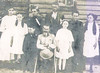 6. John Hickey was part of his family. His daughter Cordelia Swain Butler Tacker is in the dark dress at right. He daughter Bessie, who married DeWitt Pyron, is in white, between Cordie and John Hickey.