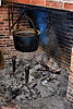 <center>Cook Pot  <br>I would have preferred a more active fire, but the smouldering coals are certainly more authentic. <br><br>Old Sturbridge Village - 16 October, 2011<br>Rhode Island Brunch Bunch Meetup Group</center>