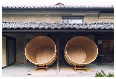 More rice fermenting barrels.