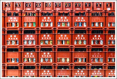 Details from the sake brewery warehouse.  These are all recently produced bottles that are on their way to market.