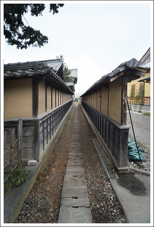 This path is where the daimyo used to walk on the way to their inn.  They are in the process of restoring it.