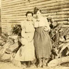 Mamoo - Lillie Lee Guice with Mother on wood pile, Oldenburg, MS
