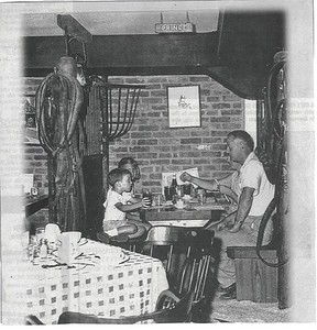 """Old MacDonald's Farm Restaurant- """"E-I-E-I-O-Many Darien residents have fond memories of Old MacDonald's Farm on the Post Road.  The restaurant, which was well known for its hambergers, had saw dust on the floor and booths that were made to look like stalls."""" -Darien Times-May 5, 2005"""
