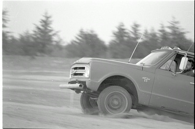 Barry Paris and his flying Chevy pickup.