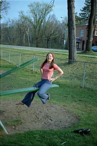 Debbie Gay in the park downtown Gwinn