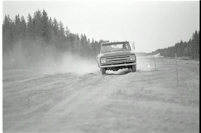 Barry Paris and his truck on future Co. Rd. 553