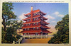 A postcard showing the Pagoda on top of Mount Penn in Reading. There was no message on the back.