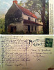"A postcard of the Mouns Jones house dated Sept. 10, 1948. The note reads ""Dear Mrs. Hustead, Frederick and I have settled in at Reading for our last few days of vacation and finding we like it here - close enough (illegible word) so we feel safe about the car - yet new to us both - a nice change before we go back to our regular existence. Our visit with you and Roberts was t the high spot in our trip, just as it was last summer. It brought us great happiness and we thank you both for all you did for us."" Signed Elinor Augustine."