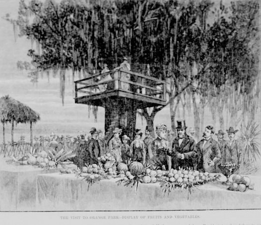 Ulysses S. Grant visiting Orange Park in January, 1880. Courtesy of the State Archives of Florida, Florida Memory, http://floridamemory.com/items/show/153265